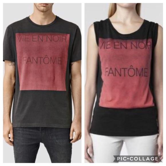 e400b4ff29a4 All Saints Other - All Saints Vie En Noir Fantome T-Shirt M